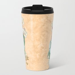 Alan-A-Dale Rooster : OO-De-Lally Golly What A Day Tattoo Watercolor Painting Travel Mug