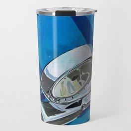 Classic Retro Car Art Series #1 in Harbor Blue Travel Mug