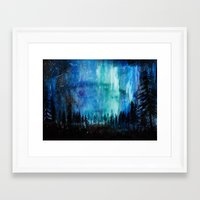 northern lights Framed Art Prints featuring Northern Lights by VivianLohArts