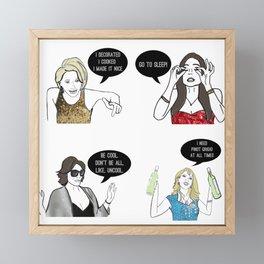 New York Women Framed Mini Art Print