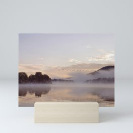 Into the Mists of Dawn: Sunrise on Lake George Mini Art Print