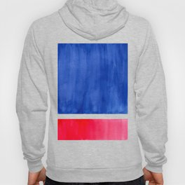 Rothko Abstract Mid Century Modern Minimalist Colorful Simple Nautical Red Blue Hoody