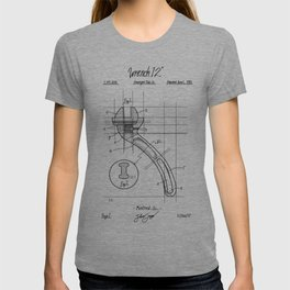 Industrial wrench patent T-shirt