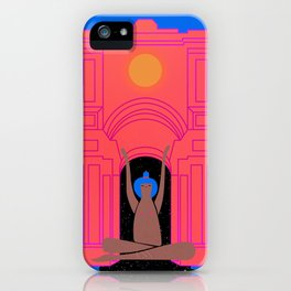 moon goddess illustration iPhone Case