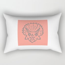 Asteroid Anxiety - Triceratops Rectangular Pillow
