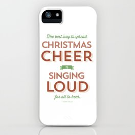Christmas Cheer iPhone Case
