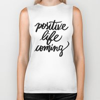 positive Biker Tanks featuring POSITIVE by Henrique Nobrega
