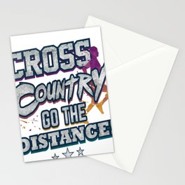 Cross Country Go the Distance Runner Gift Stationery Cards