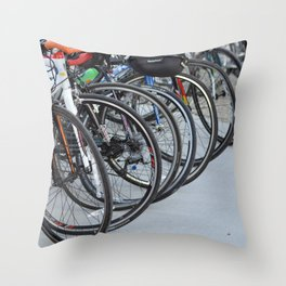Bicycle Wheels Throw Pillow