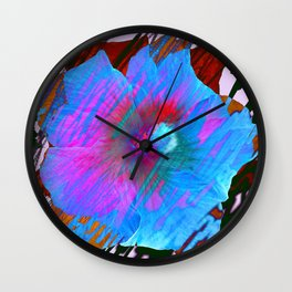 Arty Hibiscus Wall Clock