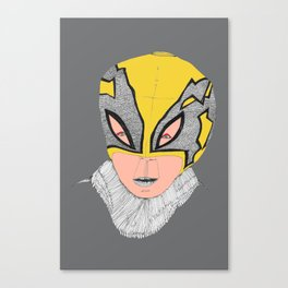 Little Lucha Libre  Canvas Print