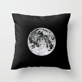 Full Moon Lunar Phase Throw Pillow