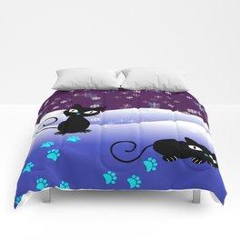 Glow in the Dark Xmas Cats Comforters