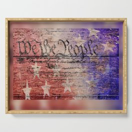 We the People... Serving Tray
