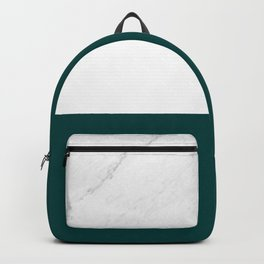 Marble And Teal Backpack