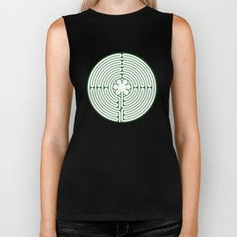 Cathedral of Our Lady of Chartres Labyrinth - Green Biker Tank