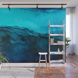 Blue Abstract Seascape Wall Mural
