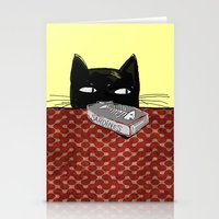 kitty Stationery Cards featuring  Kitty by Mary Kilbreath