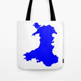 Silhouette Map Of Wales Tote Bag