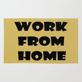 Work From Home (gold) Rug