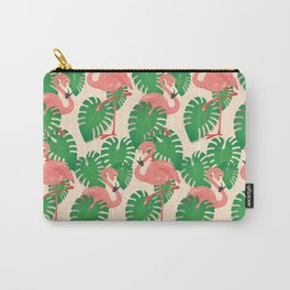 Flamingo in Tropical Forest Carry-All Pouch