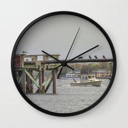 Cormorants on the Greasy Pole Wall Clock