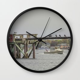 Cormorants on the Greasy Pole Wall Clock