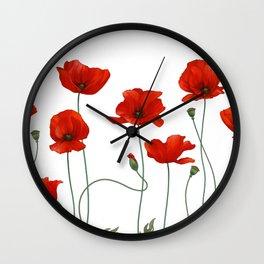 Poppy Stems Wall Clock