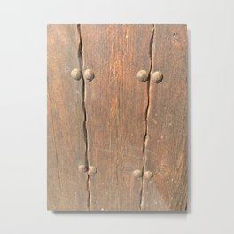 Wood - Door Metal Print