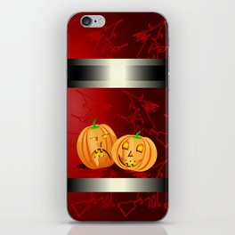 Pumpkins and spooky witches iPhone Skin