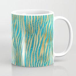 Beautiful Teal & Gold Animal Print Pattern Coffee Mug