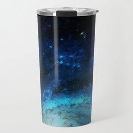 Teal Pinwheel Galaxy Travel Mug