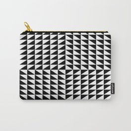 Optical illusion noir blanc triangle Carry-All Pouch