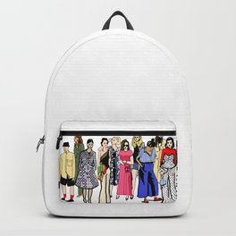 Fashion girls during fashion week (and one guy) Backpack
