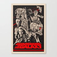 guardians of the galaxy Canvas Prints featuring Guardians of the Galaxy by Messypandas