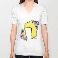 sia V-neck T-shirts featuring SIA BOB by Melina Espinoza