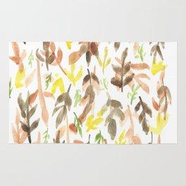 170814 Leaves Watercolour 4 Rug