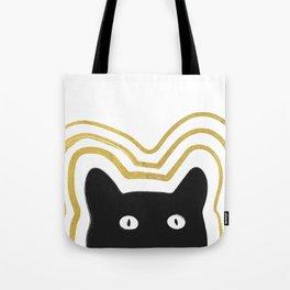 Golden Cat Vibes Tote Bag