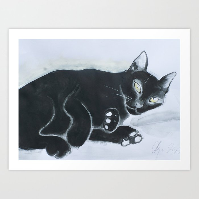 Jinn cat Art Print