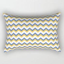 Yellow Blue Chevron Rectangular Pillow