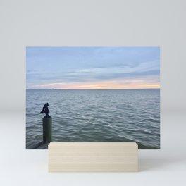 Sunset on the Bay Mini Art Print