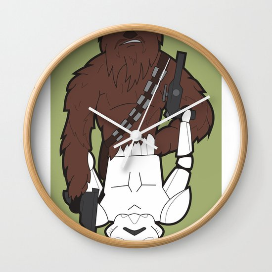 Chewbacca and Stormtrooper Wall Clock