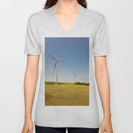 Technology and nature Unisex V-Neck