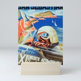 San Sebastian Spanish Grand Prix 1935 - Vintage Poster Mini Art Print