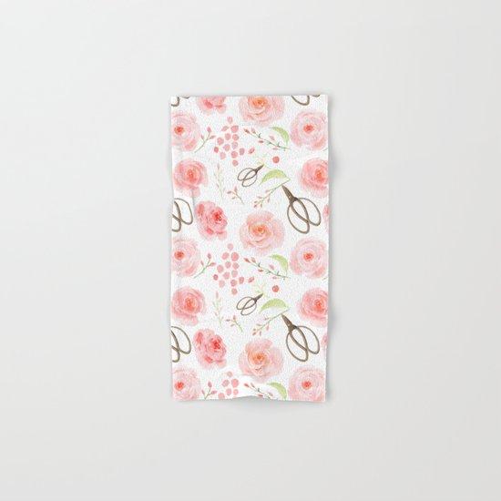 Summer Flowers Flower Floral Pink Vintage Roses #Society6 Hand & Bath Towel