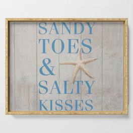 Sandy Toes and Salty Kisses Serving Tray