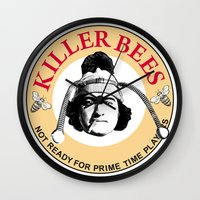 snl Wall Clocks featuring Killer bees: Not Ready for Primetime Players by sinistergrynn