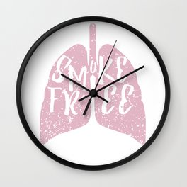 Smoke Free Wall Clock