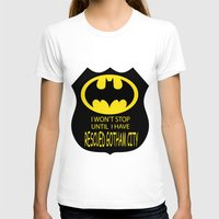 gotham T-shirts featuring Gotham City by Veronica Ventress