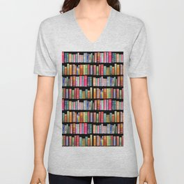 Vintage Book Library for Bibliophile Unisex V-Neck